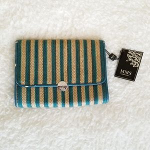 MMS Design Studio Yarn Woven Vegan Leather Clutch